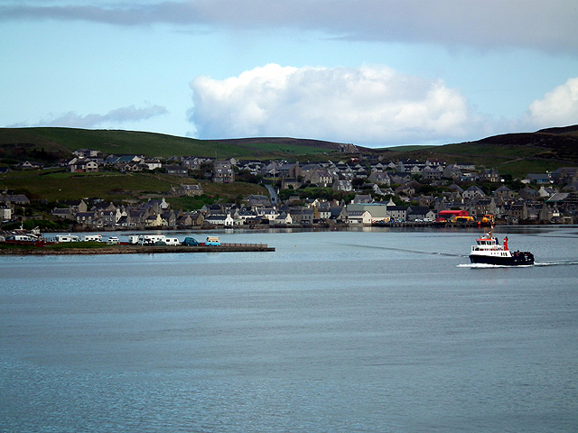 Stromness viewed from the MV Hamnavoe