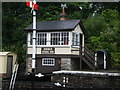 SX0766 : Signal box by Andrew H