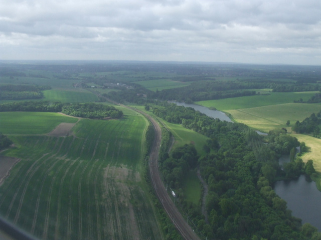 The River Lea from the air