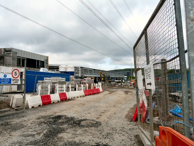 Tesco Extra under construction