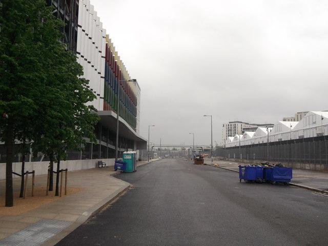 Behind Westfield Multi-storey Car Park