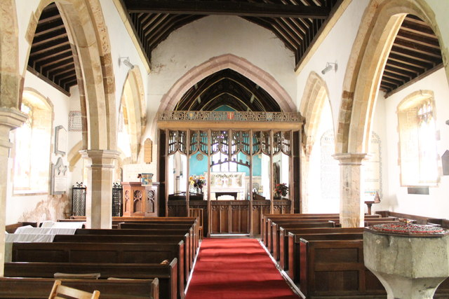 Interior, All Saints' church, Holton cum Beckering