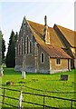 TQ0152 : St. Luke's Church (2) - east end, Burpham Lane, Burpham, Guildford by P L Chadwick