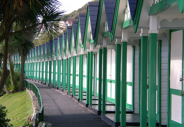 Beach Huts at Langland Bay