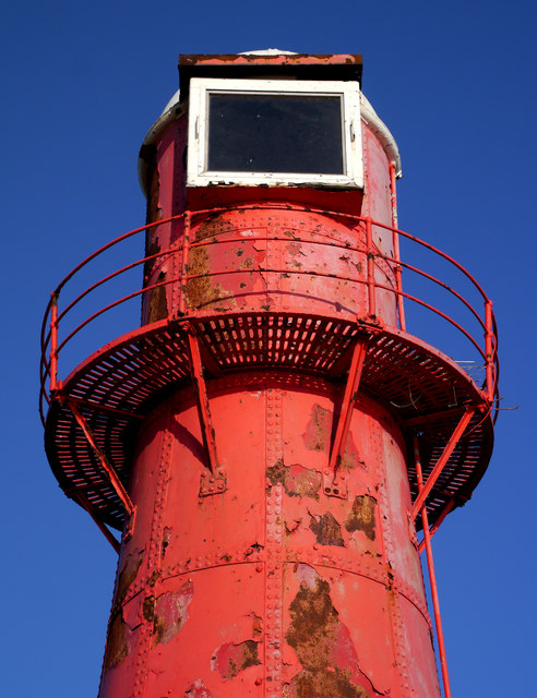 The red lighthouse near Paull