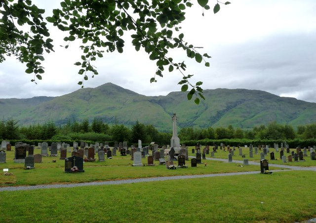 View across the cemetery at Innis na Birlinn
