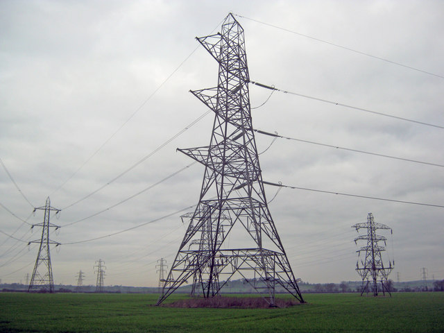 Pylons at Staythorpe