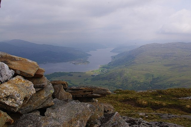 Laudale and Loch Sunart from Meall an Damhain