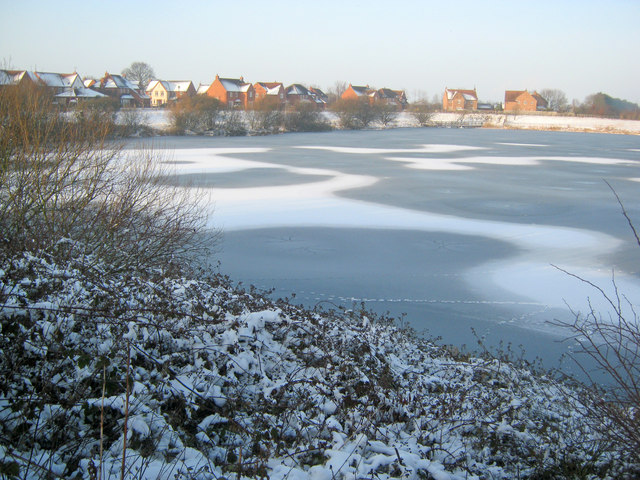Muskham Lake in winter