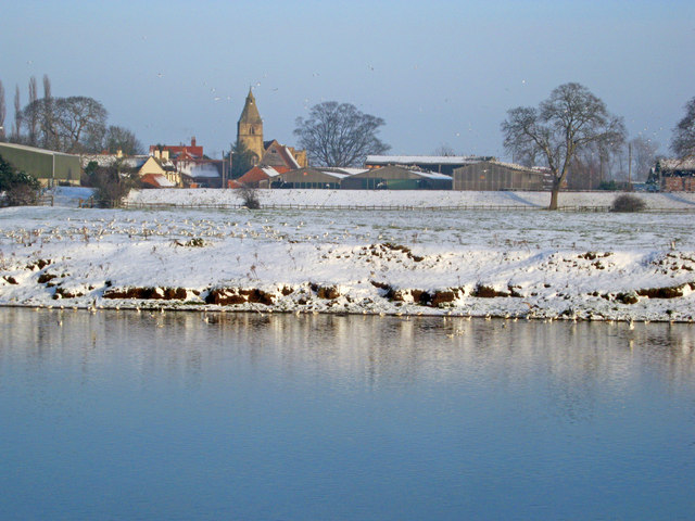 Wintry scene by the Trent