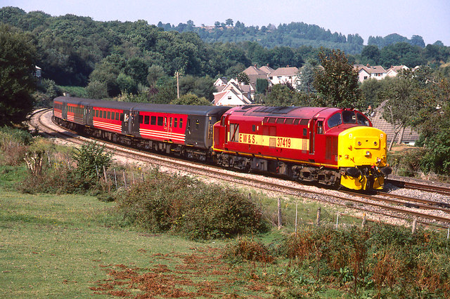 Train Leaving Ystrad Mynach