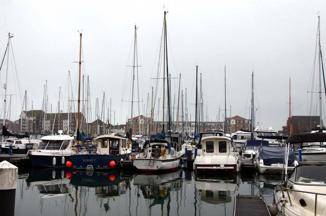 Boats in Sovereign Harbour