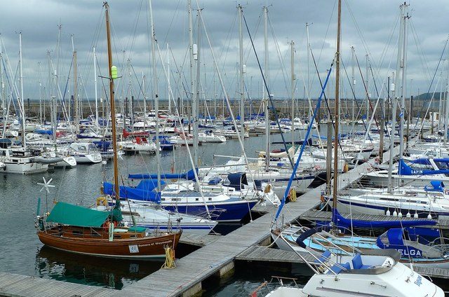 Yachts in Troon Marina