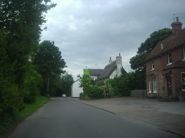 High Street Shepreth overlooking The Plough public house