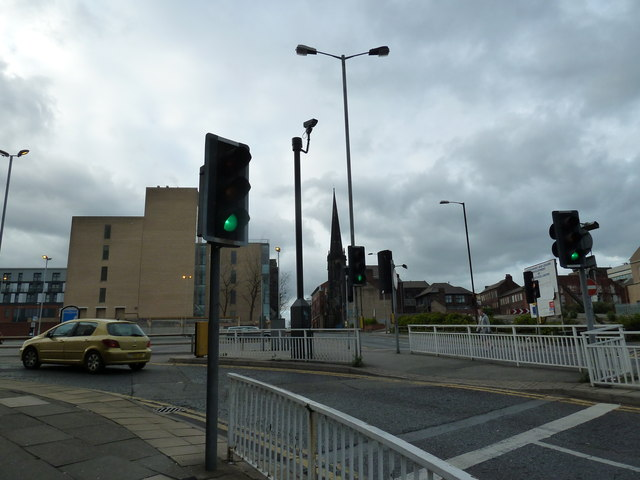 Triangular junction at the top of Furnival Gate (ii)