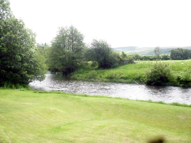 The Yarrow Water near Philiphaugh