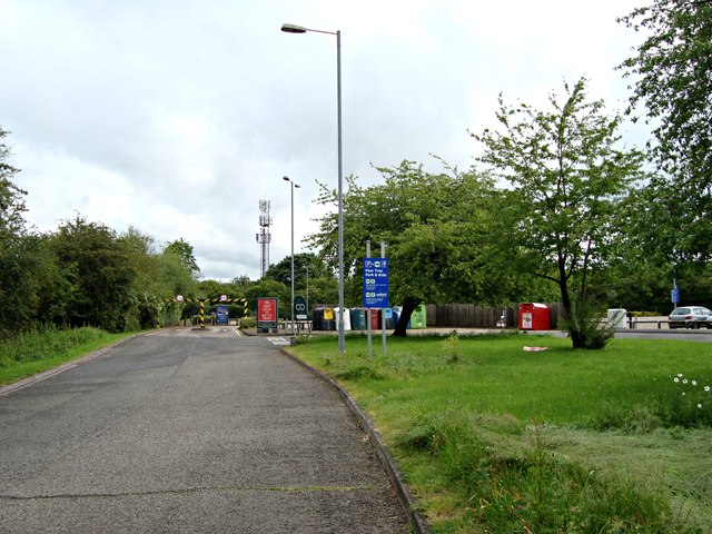 "The entrance to Peartree ""Park and Ride"""