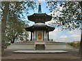 TQ2777 : Peace Pagoda, Battersea Park by Paul Gillett