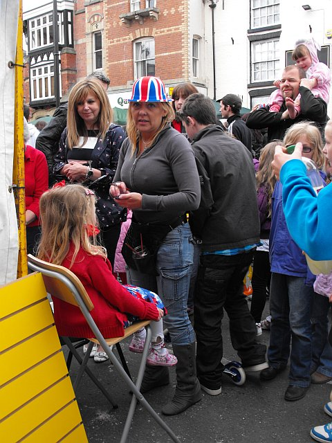 Face painter at Diamond Jubilee street party