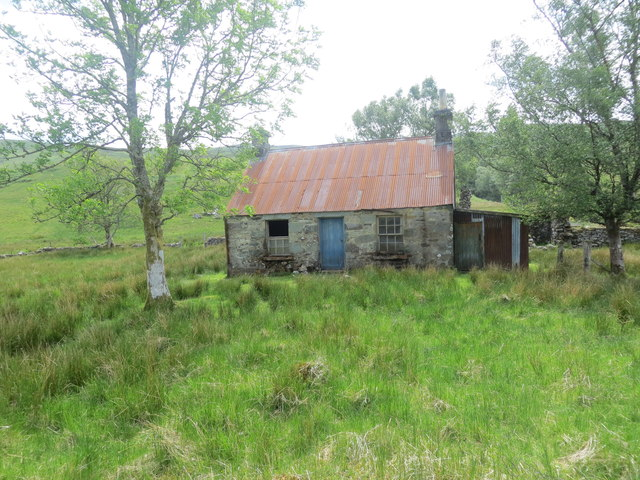 Derelict shepherd's cottage at Barran