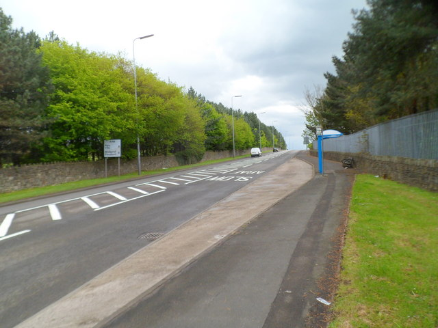 Bus stop and shelter near Margam Country Park