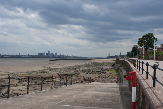 A slipway off the promenade at Wallasey