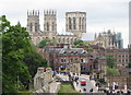 SE5951 : York: city wall and minster by Gareth James