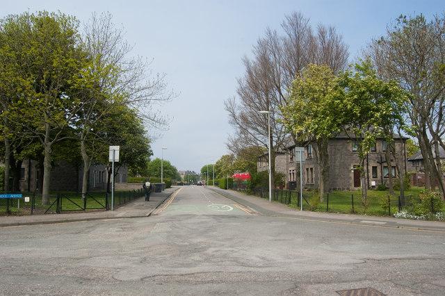 Looking down School Avenue, Seaton, Aberdeen