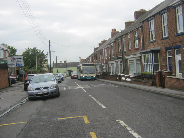 The Avenue (B6291) towards Roman Road in Coxhoe