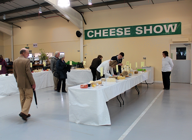Three Counties Show - judging the cheese