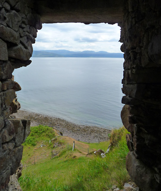 View from the door of Brochel Castle