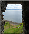 NG5846 : View from the door of Brochel Castle by John Allan