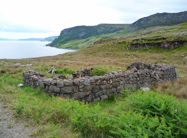 Ruined longhouse on Raasay's east coast