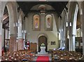 TL6001 : Interior of St. Laurence church, Blackmore, Essex (2) by Derek Voller
