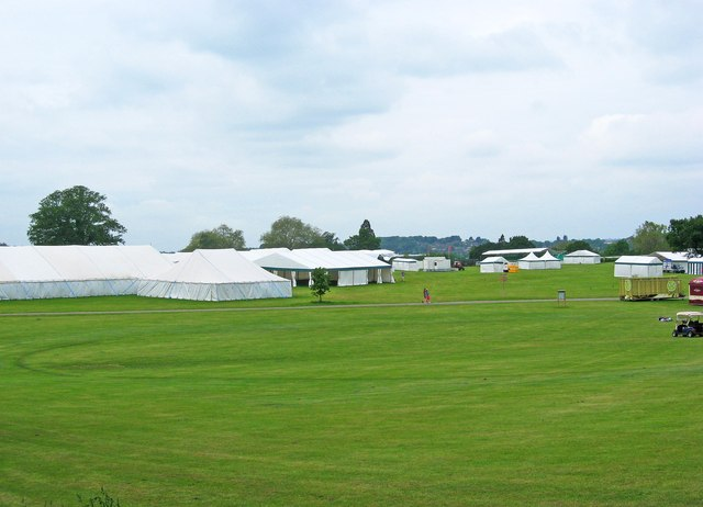 A sea of tents at Stoke Park, London Road, Guildford