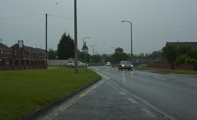 Whitefield Drive in the rain