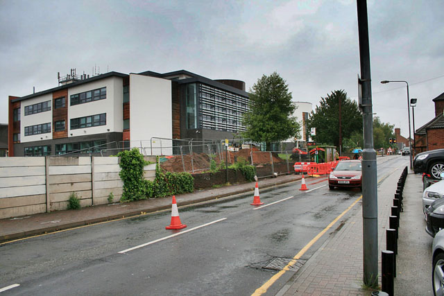 Road works outside South Nottingham College