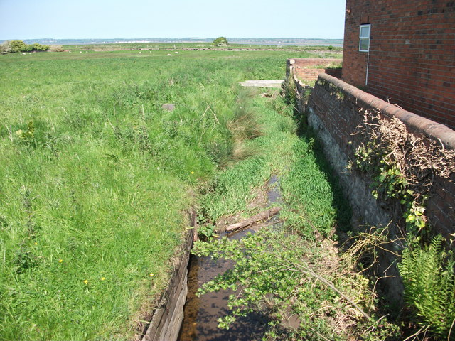 Drain beside the last house