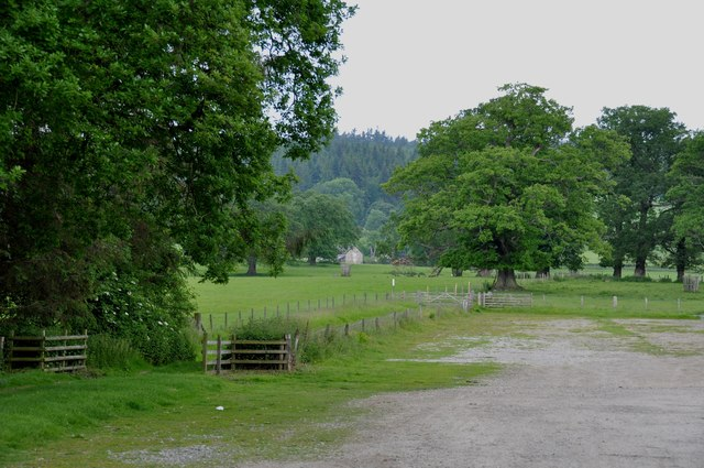 View from the rear of the car park at Chirk Castle
