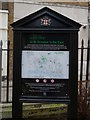 TQ3380 : Information board, St Dunstan in the East, St Dunstan's Hill EC3 by R Sones