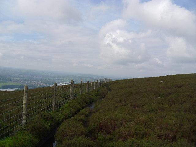 Open moorland.