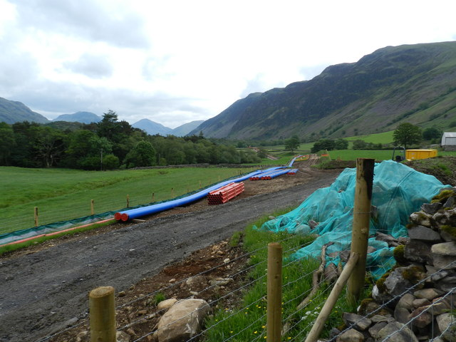 New water pipe-line near Easthwaite Farm