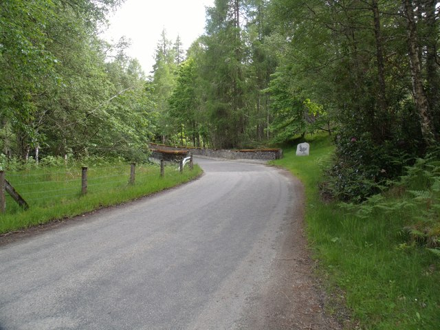 Northeast entrance to Cairngorms National Park