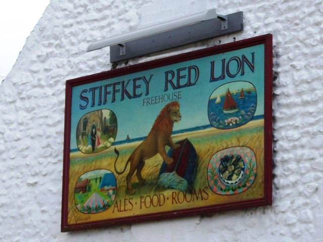 Detail of pub sign, Stiffkey Red Lion