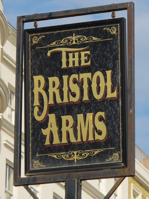 Sign for The Bristol Arms, Marine Parade / Paston Place, BN2