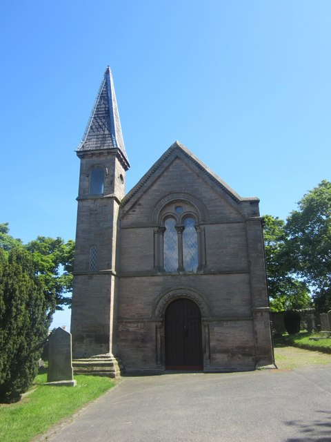Eastern chapel in Tweedmouth Cemetery