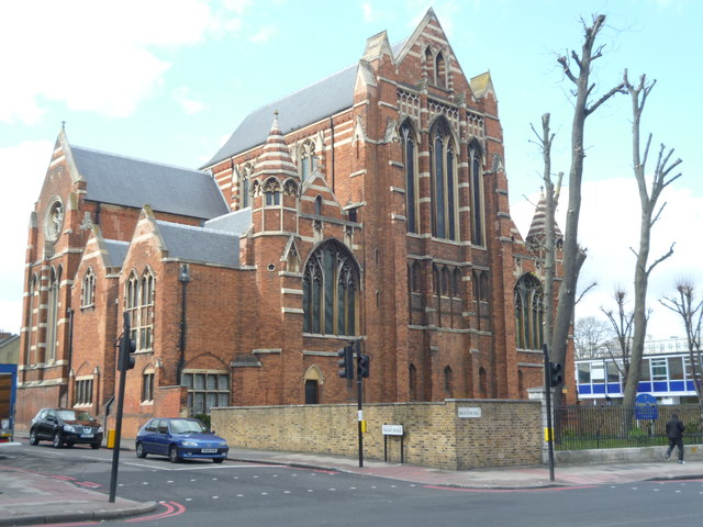 Side view of Corpus Christi, Brixton Hill SW2