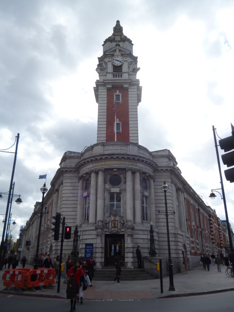 Entrance to Lambeth Town Hall, Brixton Hill SW2
