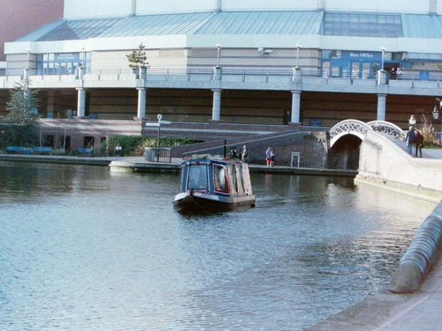 Canal Boat outside the NIA, Birmingham, 1998