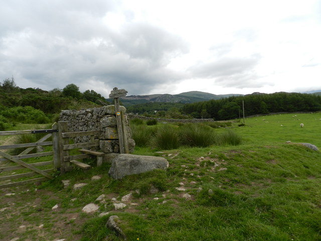 Gate, stile and path signpost
